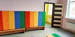 Раздевалка в детском саду Яблонька
